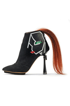 Boot with a pony tail