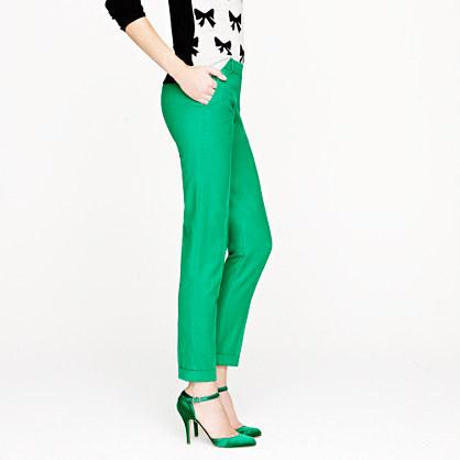 JCrew green wool pants