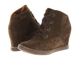 """""""Trick"""" Brown Suede Wedge Sneaker by Blowfish $59"""
