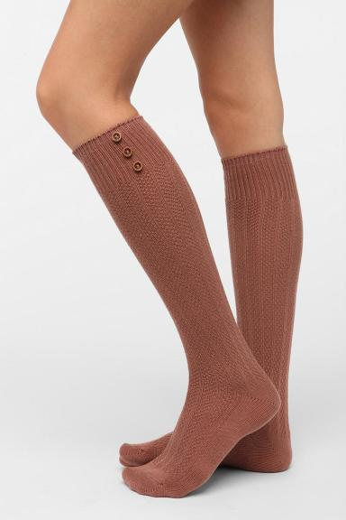 button up knee high socks