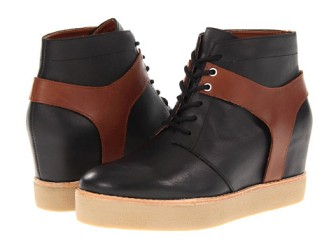 """""""Jace"""" Leather Wedge Sneaker by Matiko $146"""
