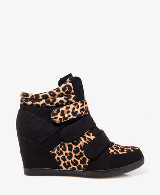 Leopard Print Wedge Sneakers from Forever 21 $40