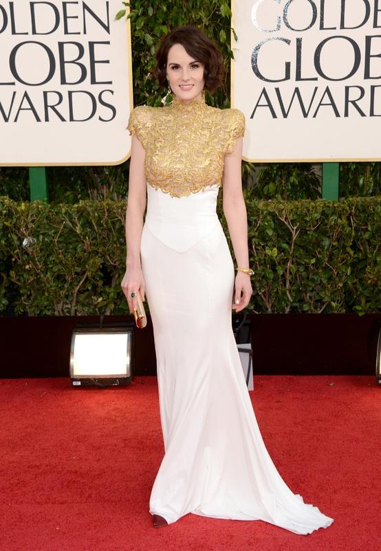 Michelle Dockery 2013 Golden Globes Source: Getty