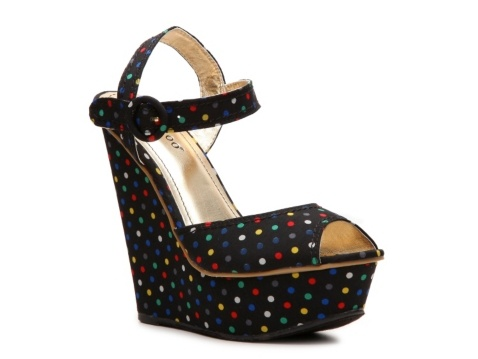Polka Dot Wedge Sandal from DSW $