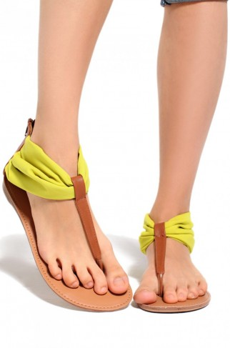 Thong Yellow Sandal by Shop Akira