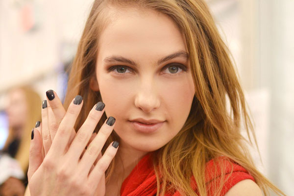 Black Nails at BCBG Max Azria photo by OPI