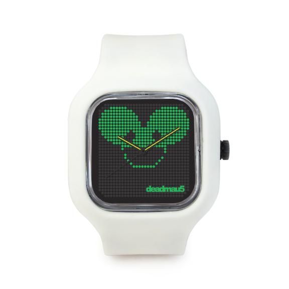 Modify Watch Deadmau5 Face with White Strap