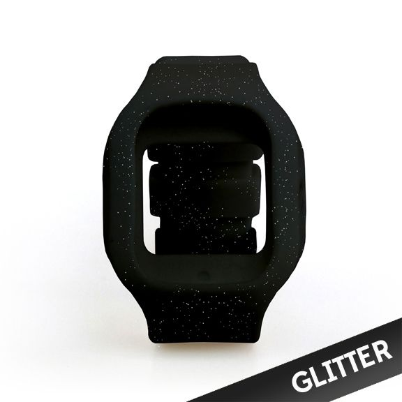 Modify Watched Black Glitter Strap